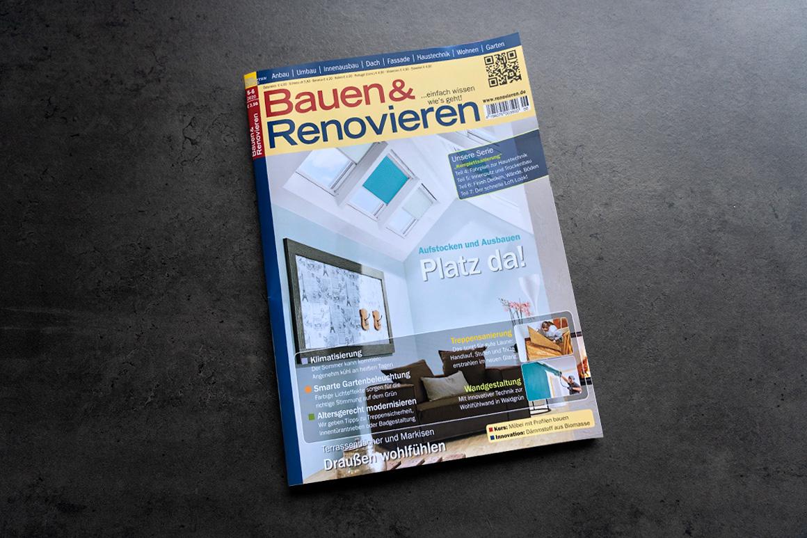 Fachmagazin Bauen & Renovieren stellt Tafel Infrarotheizung von VASNER vor