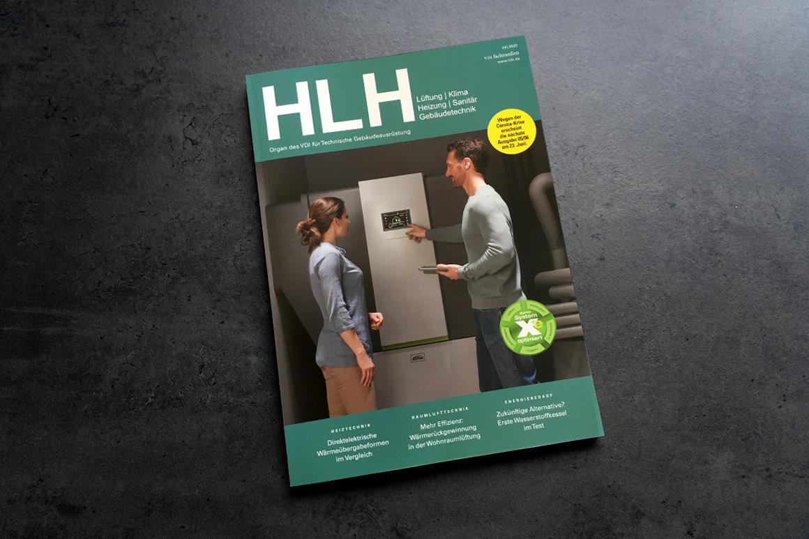 Fachmagazin HLH über VASNER Infrarotheizungen in der Bremer Hütte