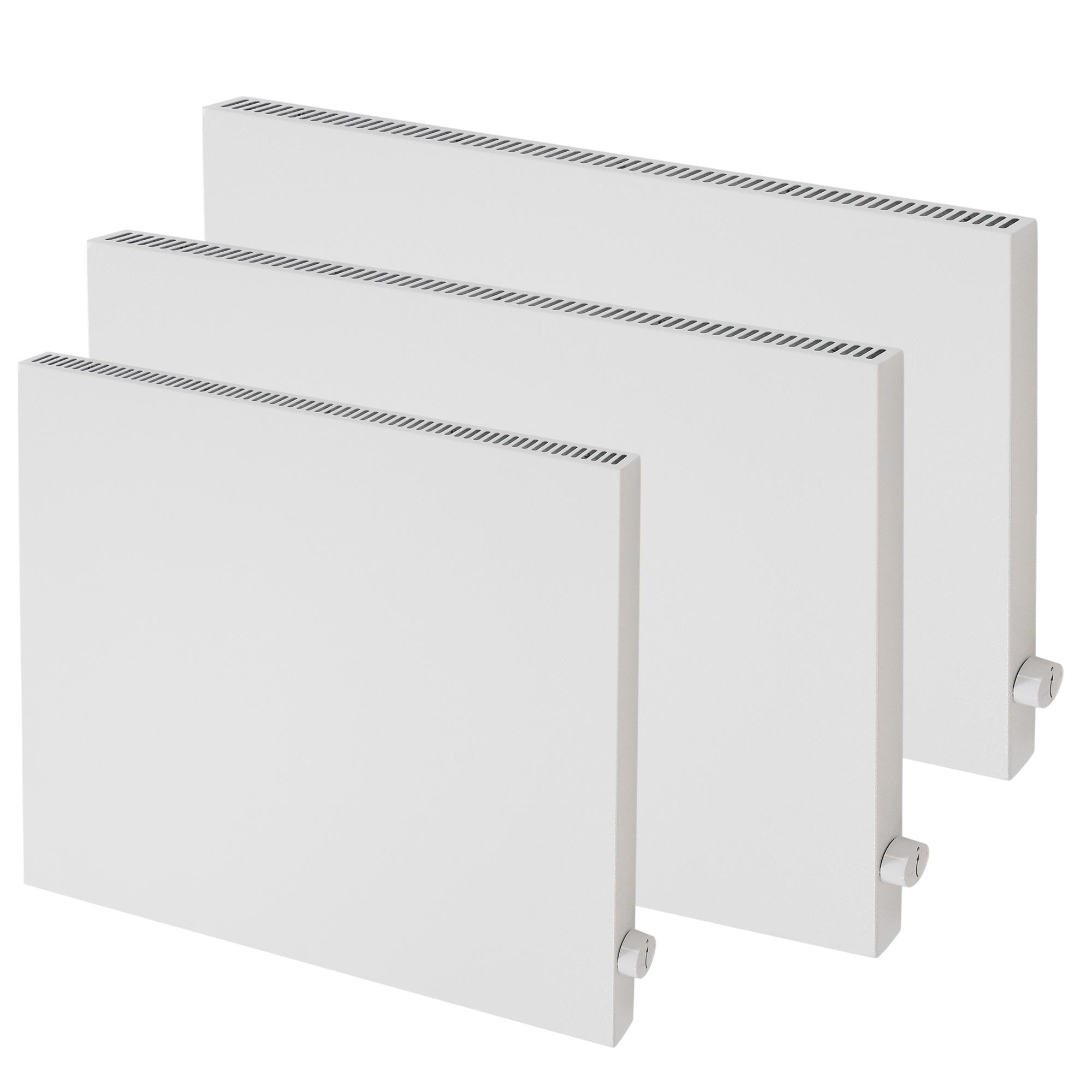 Hybrid Infrarotheizung Weiß mit Thermostat 600. 1000, 1200 Watt