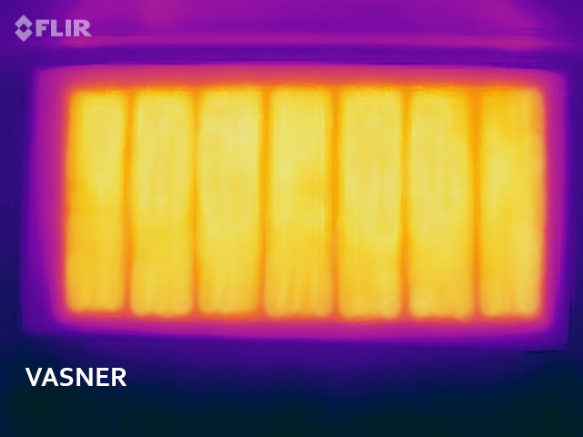 Electric mirror radiator with even infrared radiant warmth