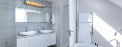 Mit einem Heizstrahler Bad beheizen - Das müssen Sie beachten