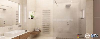 Mirror heating panel IPX4 for bathroom