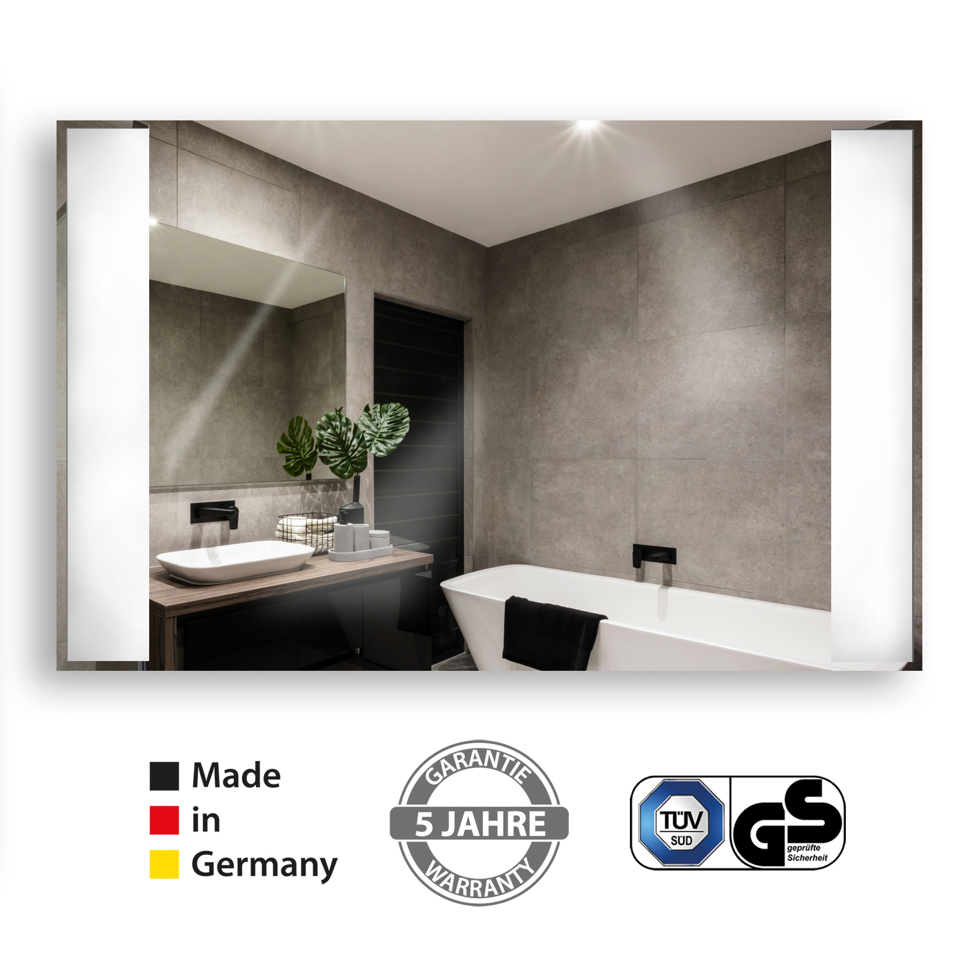 Infrared mirror heating panel in German quality