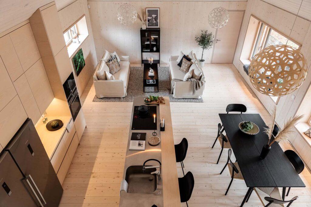 Wohnzimmer Küche Circuitus 2.0 Passivhaus Erfahrungen in Schweden