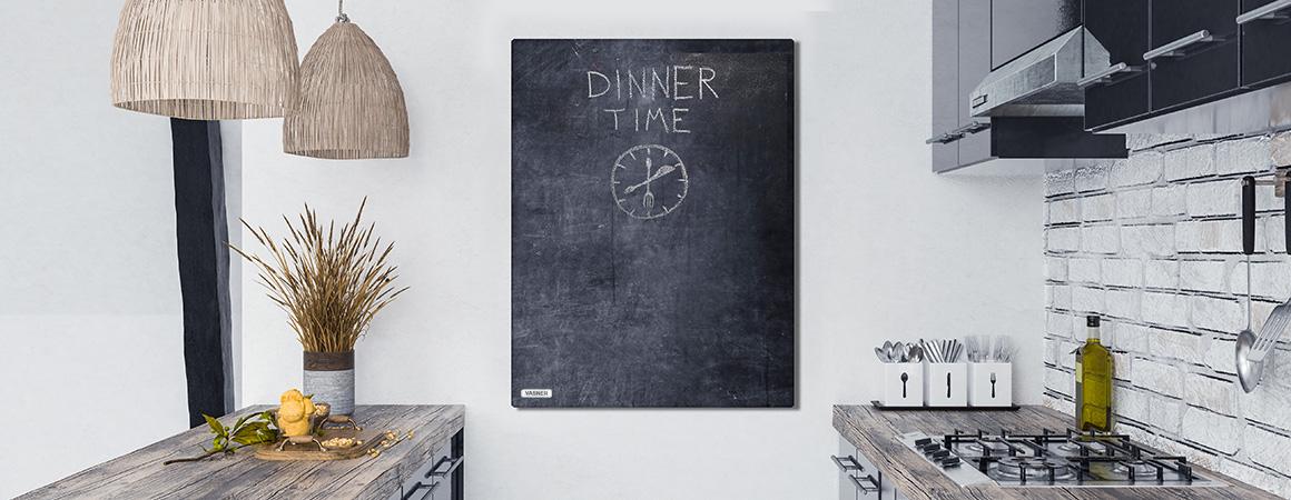 Tafel Heizung Küche beschreibbar