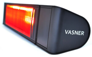 Outdoor infrared heater with ultra low glare for less light while heater