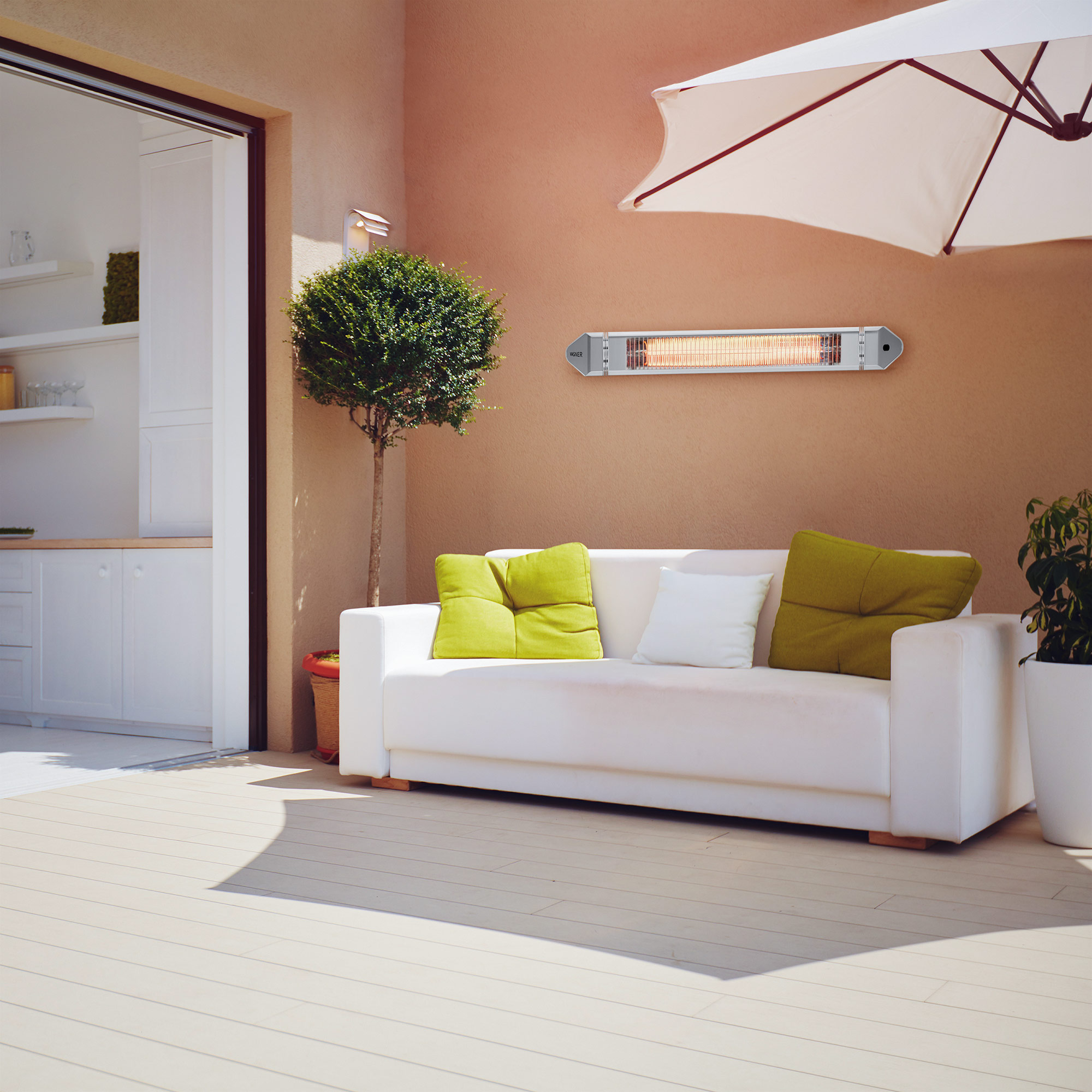 Electric infrared heater for patio, garden, balcony