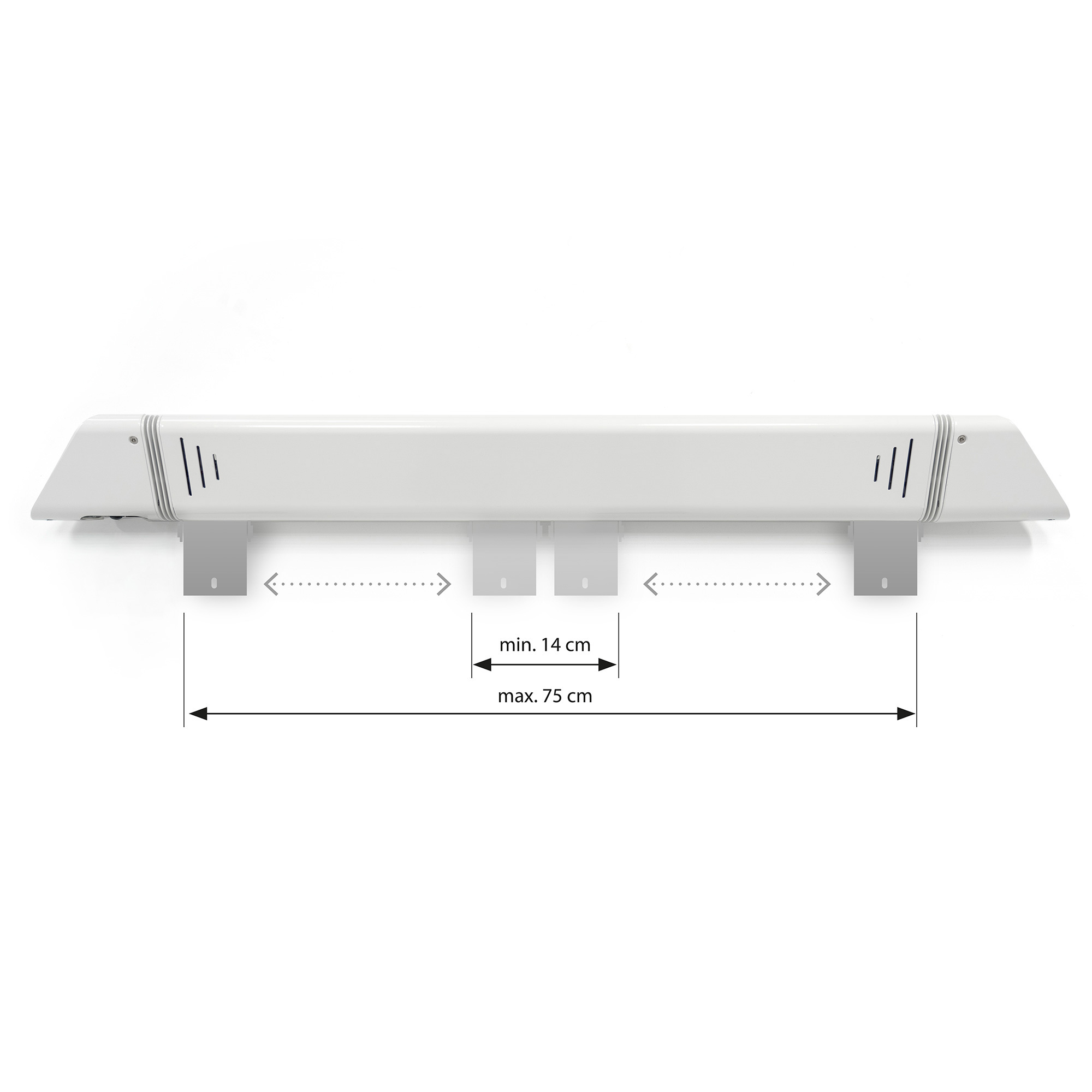 Electric patio heater wall ceiling mount adjustable