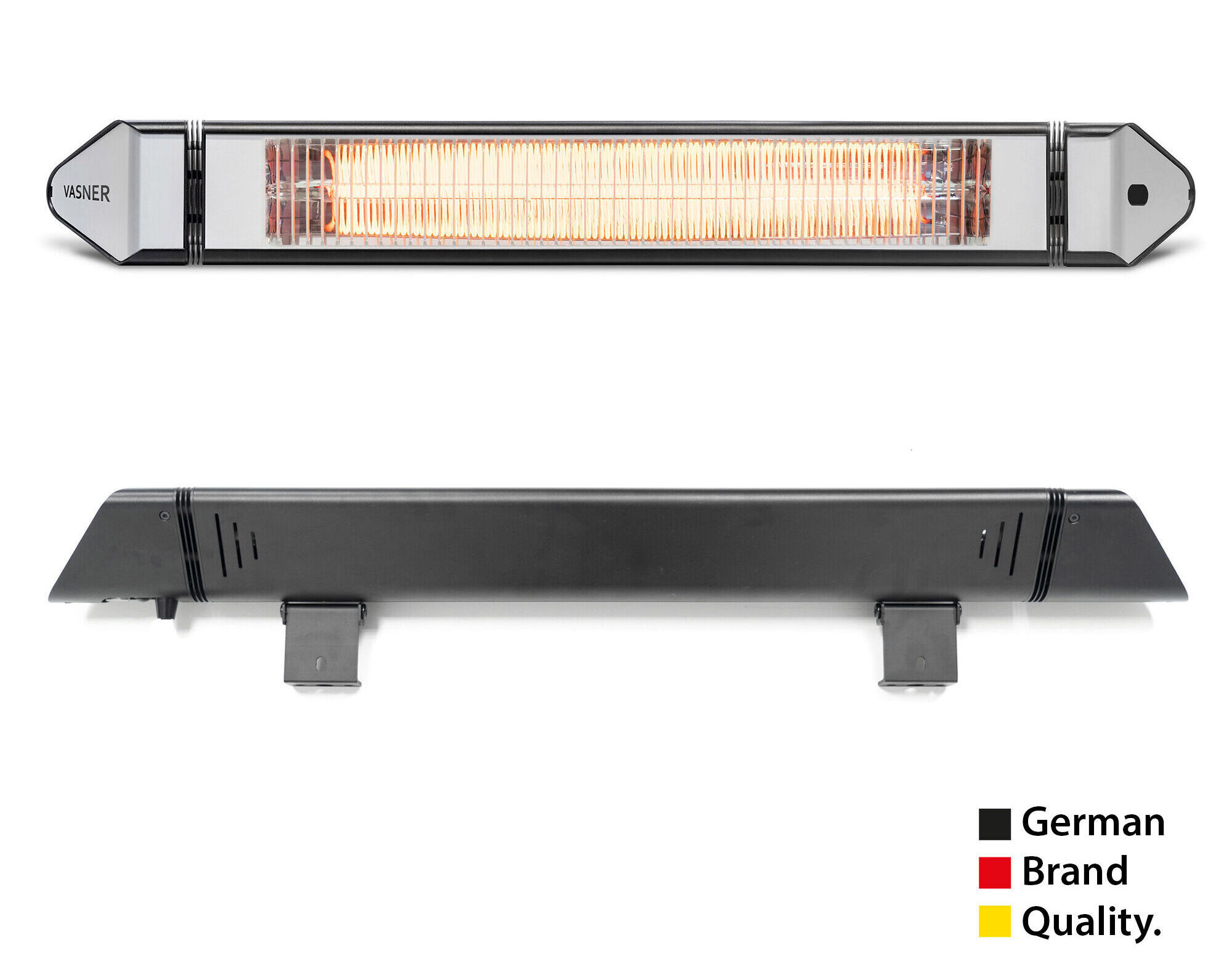 Electric patio heater by German manufacturer