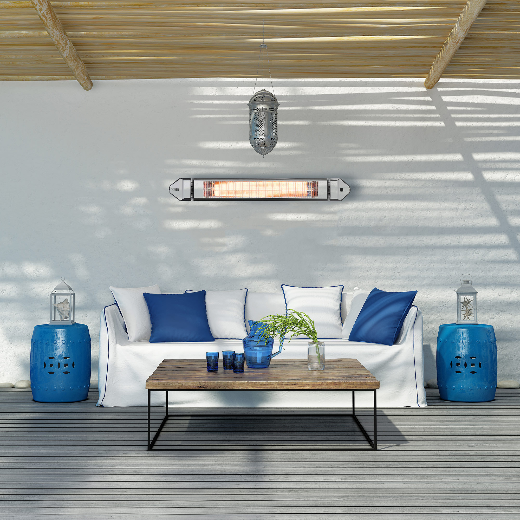 Electric patio heater infrared 2500 watts