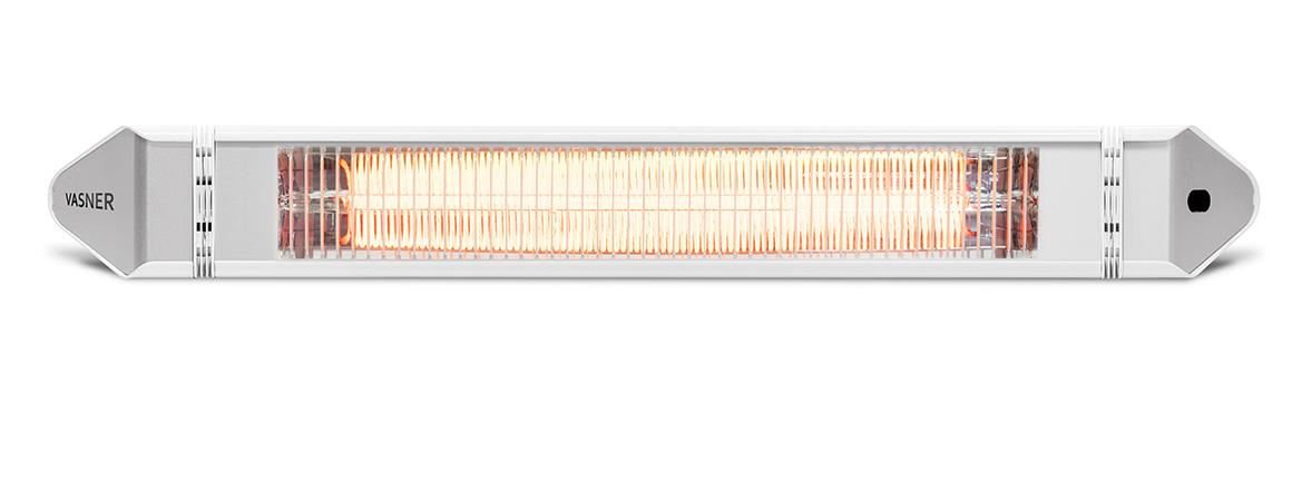Infrarot Wandheizstrahler Weiß mit 2500 Watt für draußen