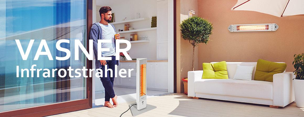 Infrarotstrahler elektrisch für Terrassenüberdachung & Garten VASNER Modelle & Ratgeber
