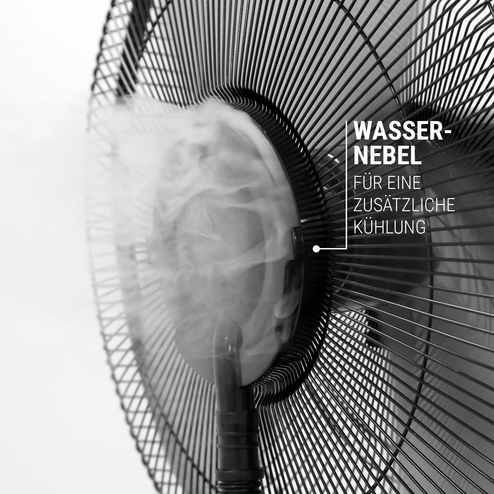 Ventilator mit Wasser Nebel für angenehme Erfrischung