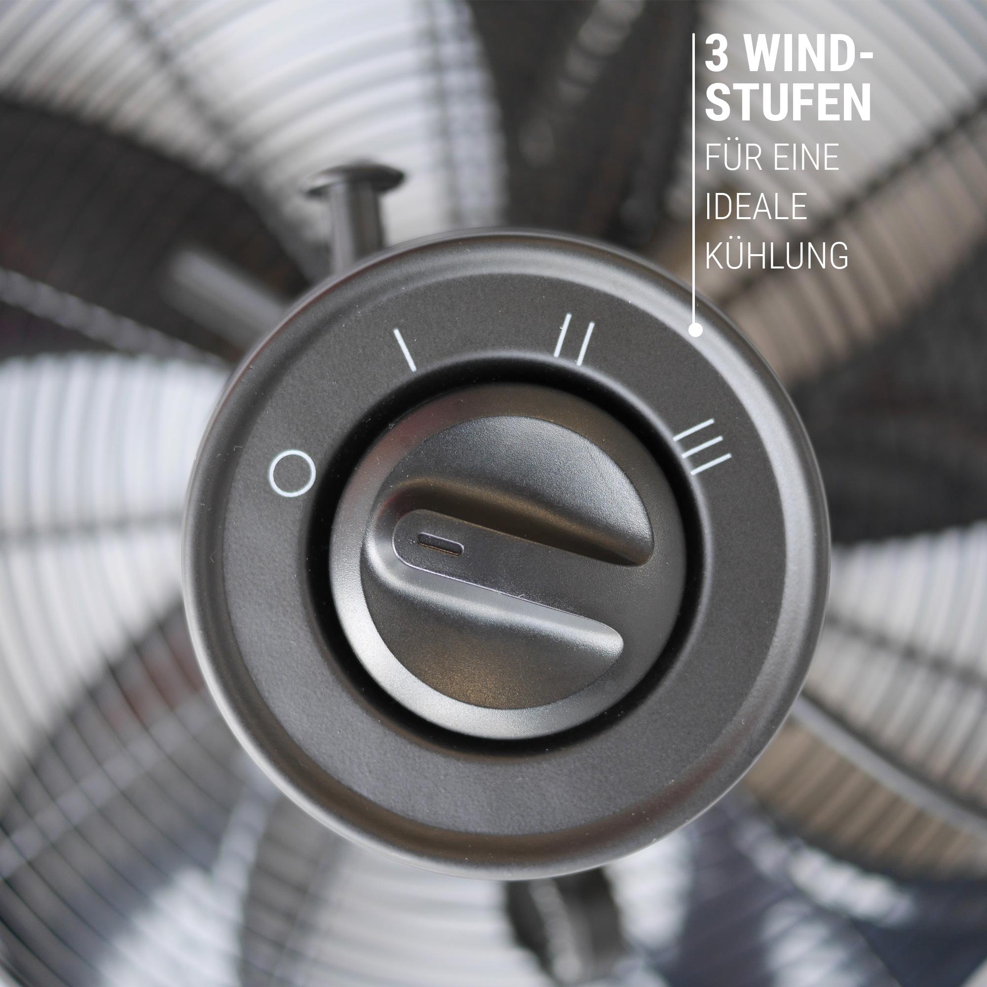 Ventilator mit 3 Geschwindigkeiten Windstufen