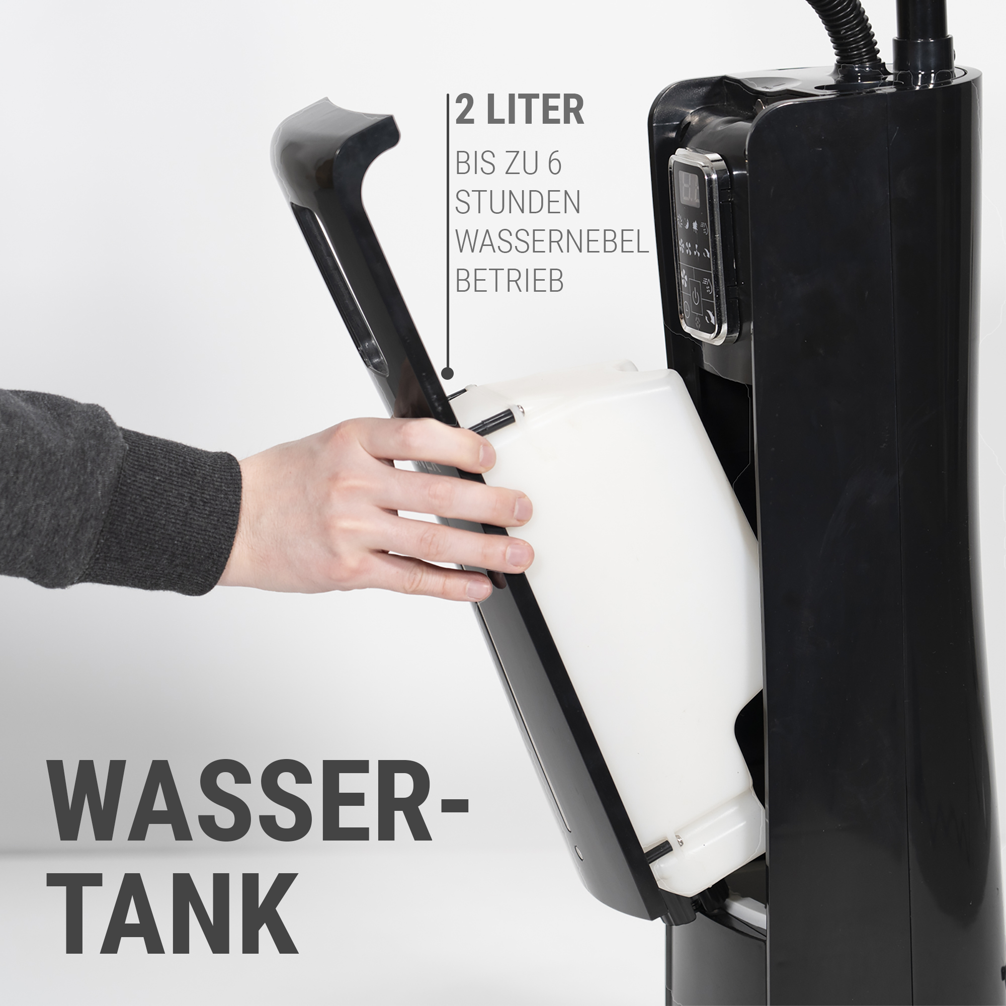 Stand-Ventilator mit Wassertank für 6 Stunden Nebelkühlung