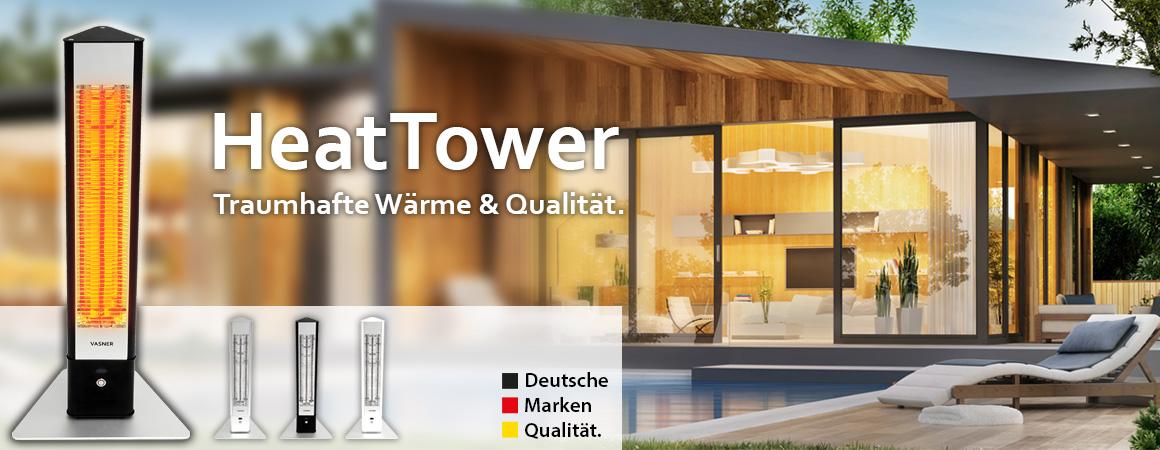 HeatTower Mini Infrarot Standheizstrahler 1500 Watt von VASNER
