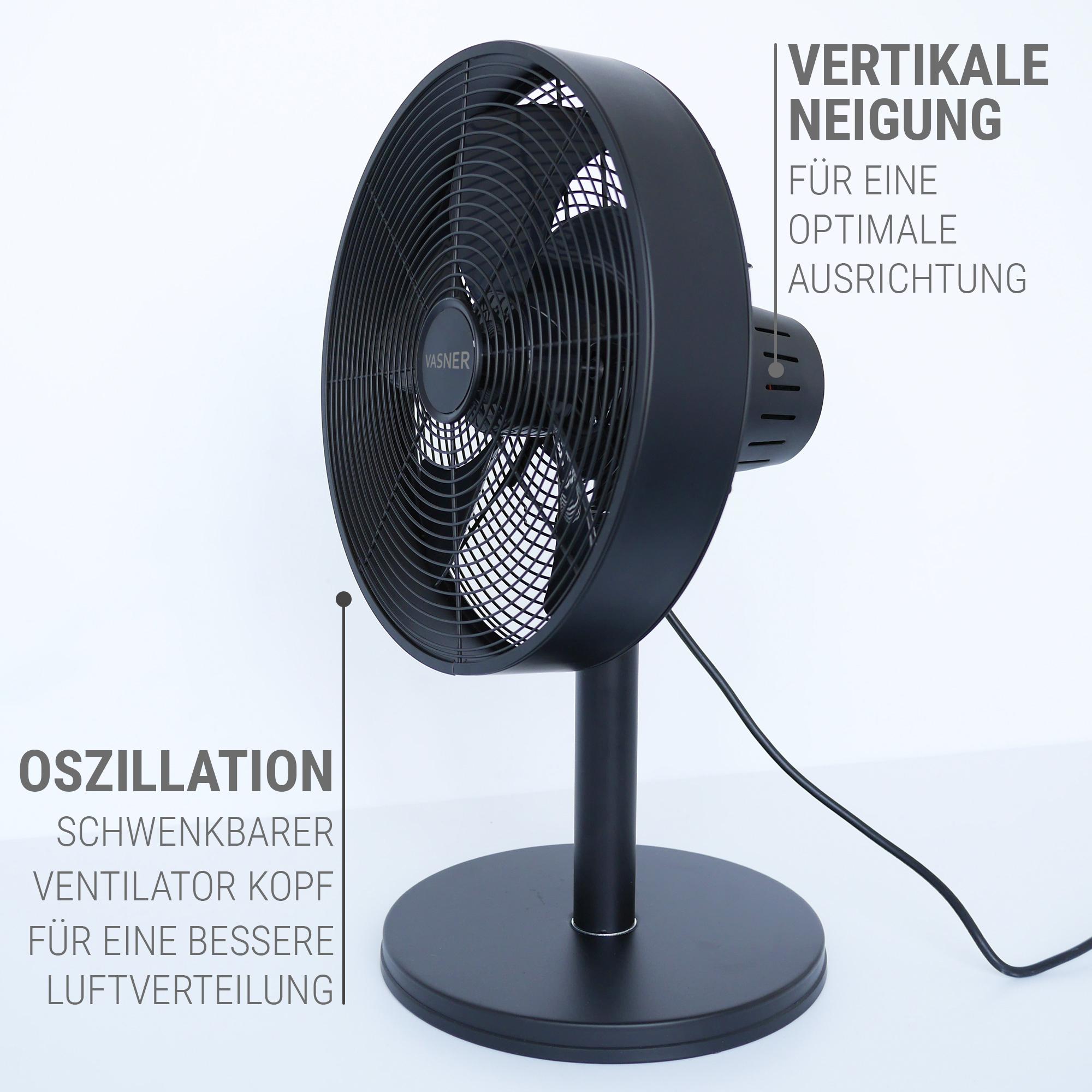 Tisch Ventilator leise, Kopf neigbar, oszillierend