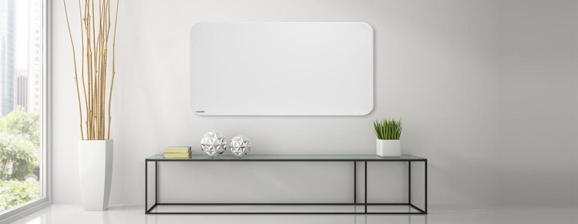Infrarotheizung Schreibtisch Heizung Metall weiß für Wand / Decke