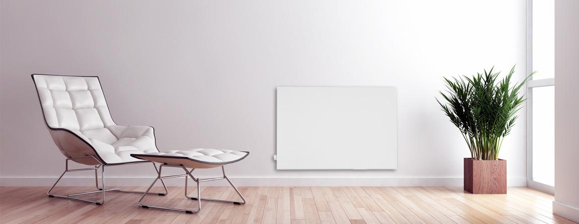Hybrid Infrarotheizung Schreibtisch mit extra Standfüßen