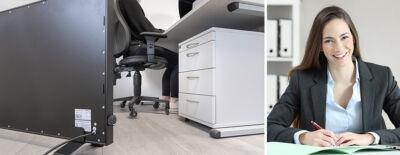 Infrarotheizung Schreibtisch Heizung für Büro / Arbeitsplatz