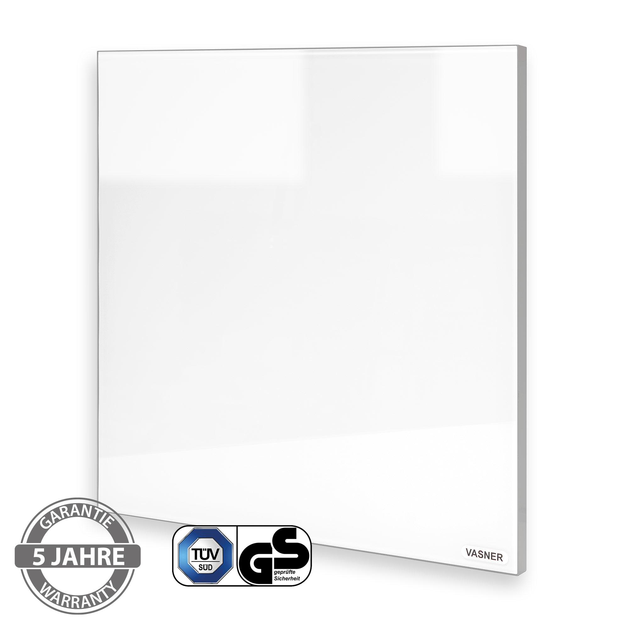 Infrarotheizung Glas mit TÜV Test Zertifikat, 5 Jahre Garantie, Rahmen
