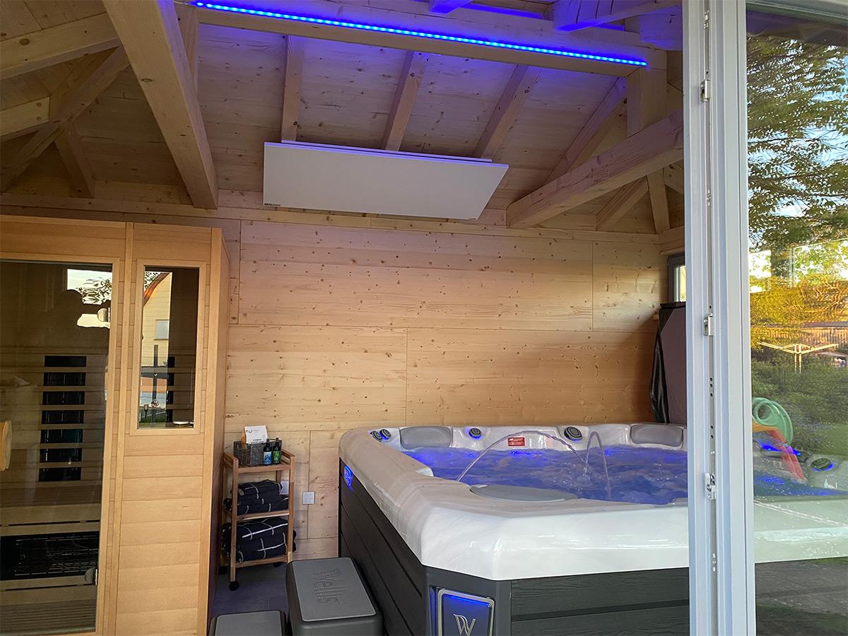 Infrarotheizung Deckenmontage ermöglicht angenehme Wärme von oben