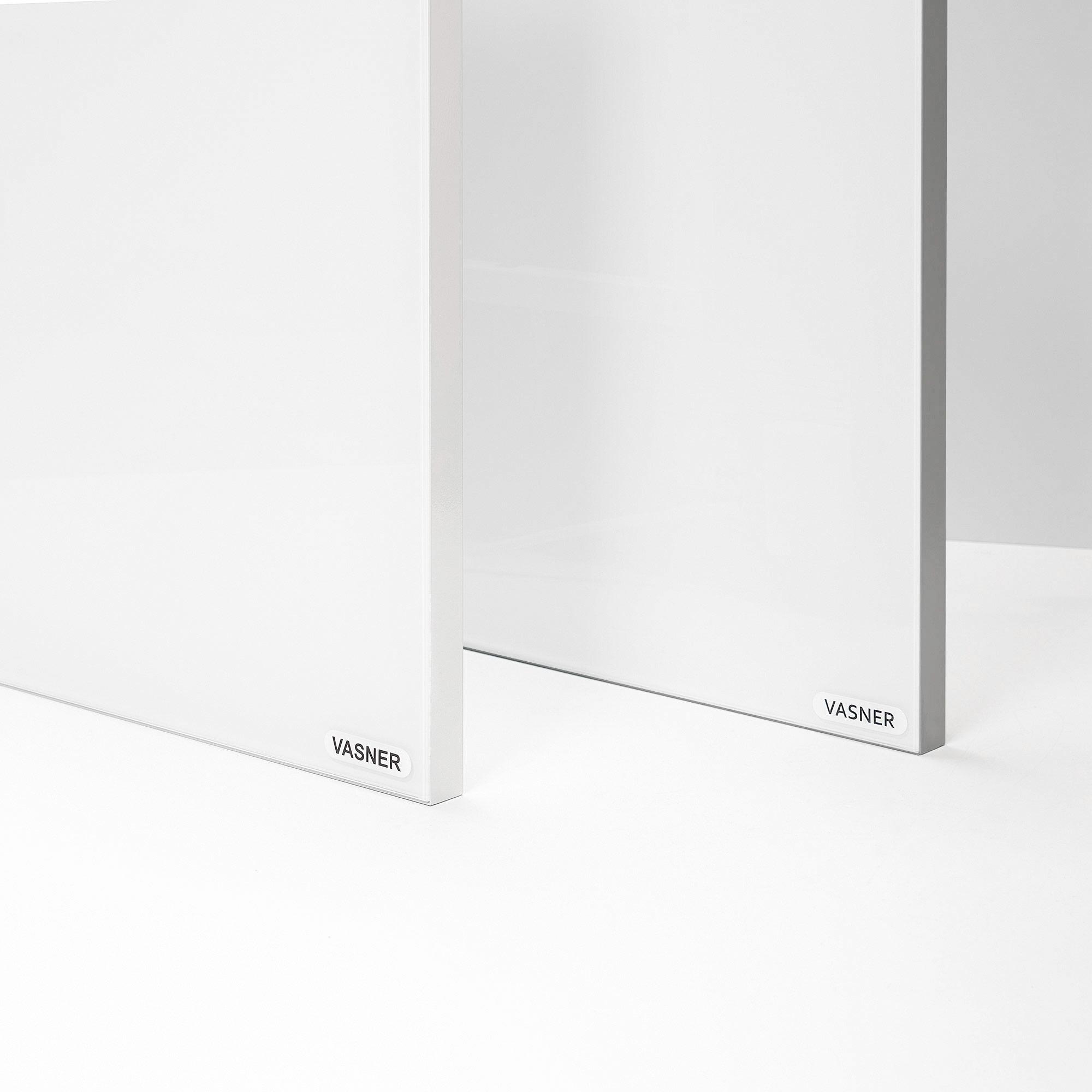 Glaspanel mit Rahmen in Weiß oder Grau