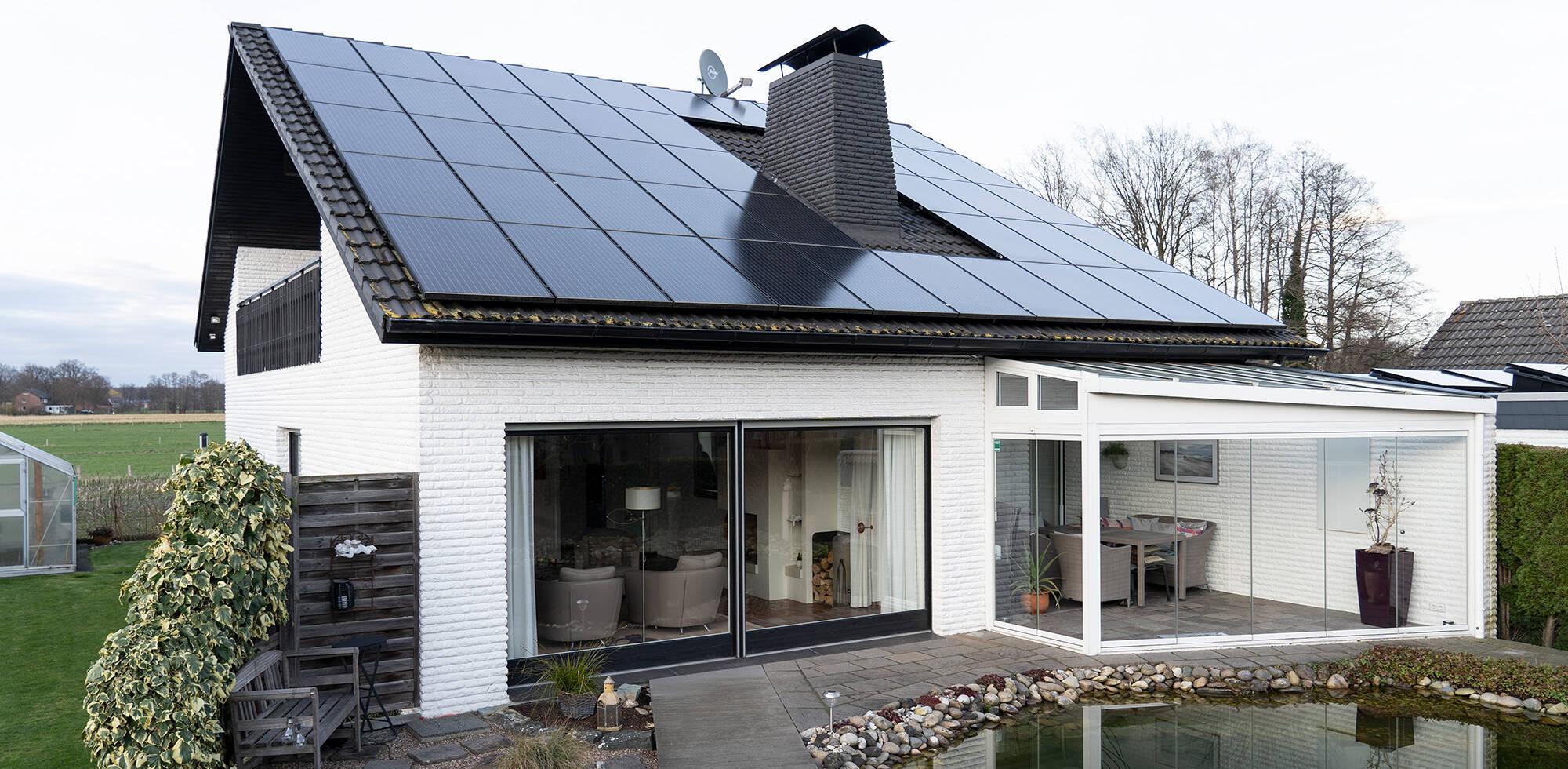 Infrarot mit Photovoltaik als alternative Heizmethoden Einfamilienhaus