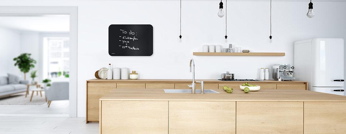Infrarotheizung Tafel rund Wandmontage Küche