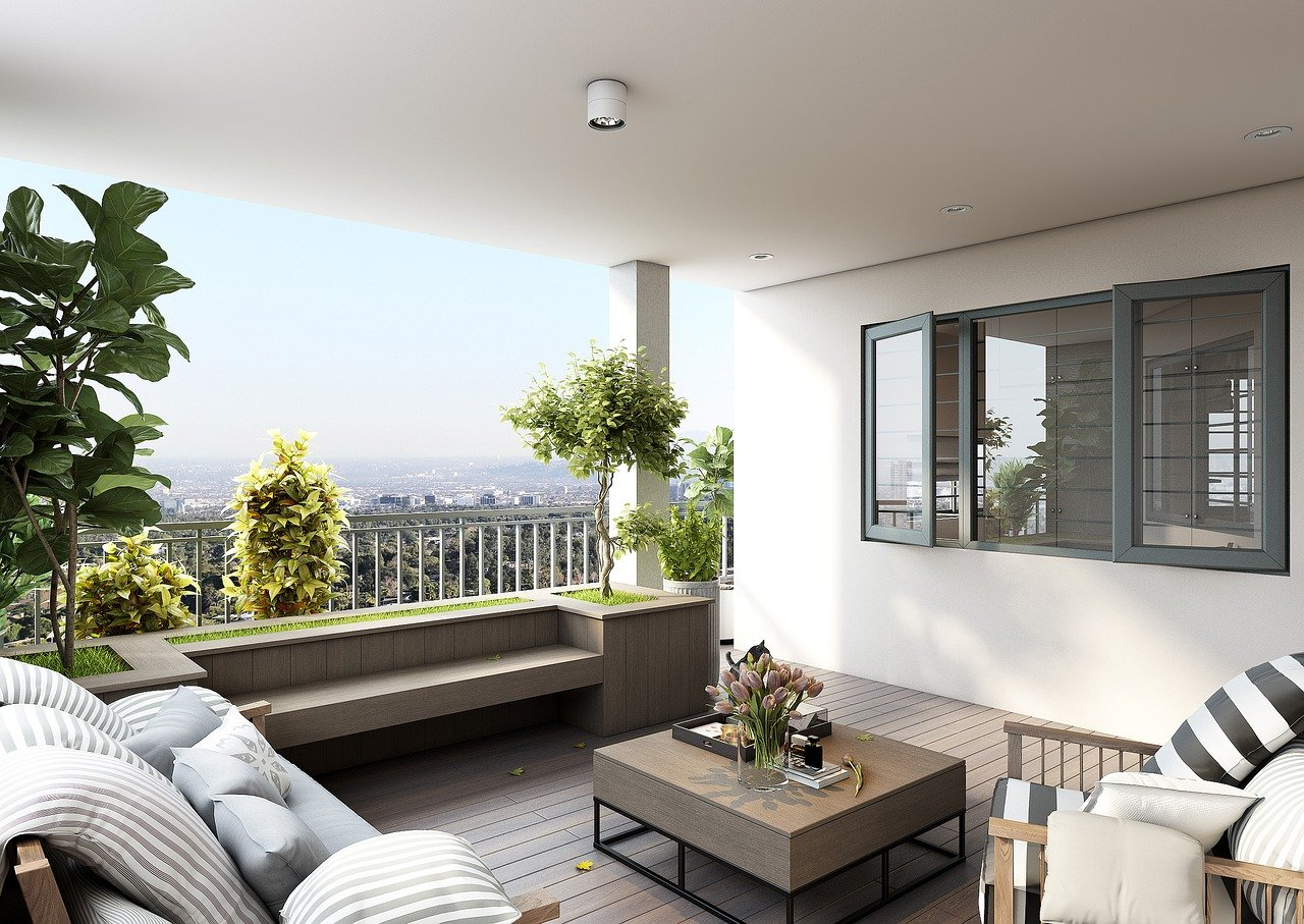 Dachterrasse modern gestalten bepflanzen